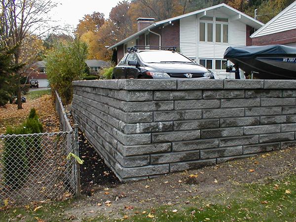 Driveway Retaining Wall – Western Mass